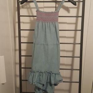 Chaps jean dress with crisscross back